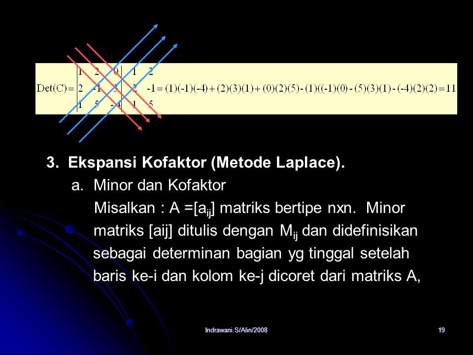 matriks [aij] ditulis dengan Mij dan didefinisikan